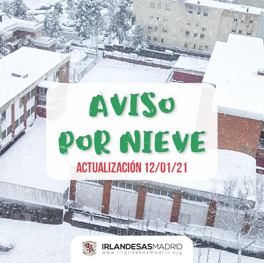 Aviso por Nieve · Irlandesas Madrid